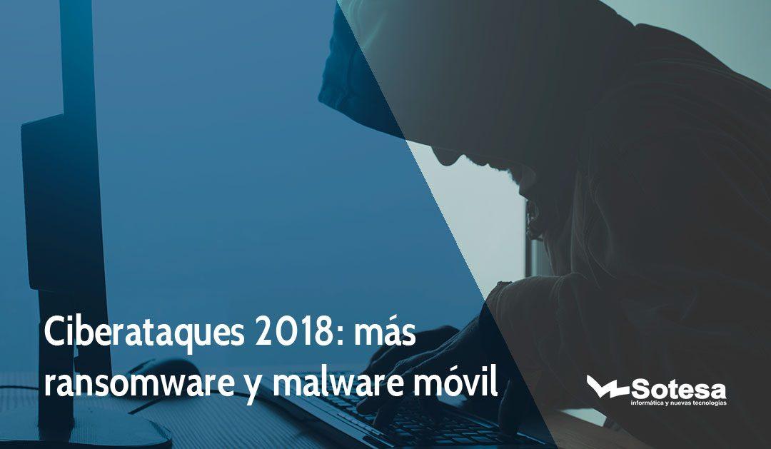 Ciberataques 2018: más ransomware y malware móvil